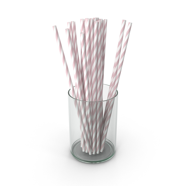 Pink Drinking Straws PNG & PSD Images
