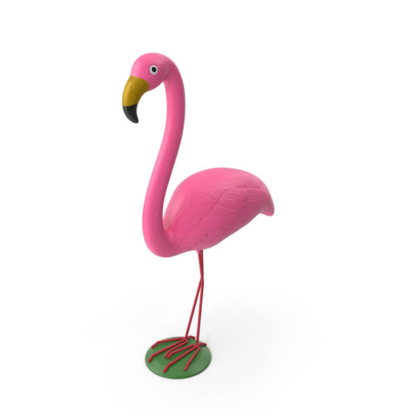 Pink Flamingo Yard Lawn Ornament PNG & PSD Images