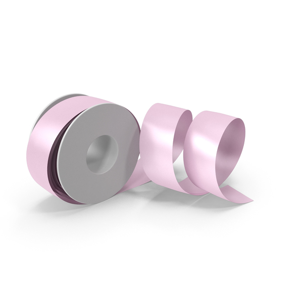 Pink Foil Ribbon Spool PNG & PSD Images