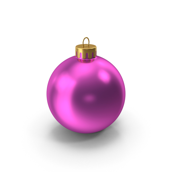 Pink Gold Christmas Ornament PNG & PSD Images