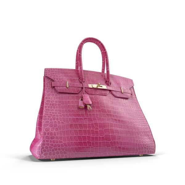 Pink Hermes Birkin Crocodile Handbag PNG & PSD Images