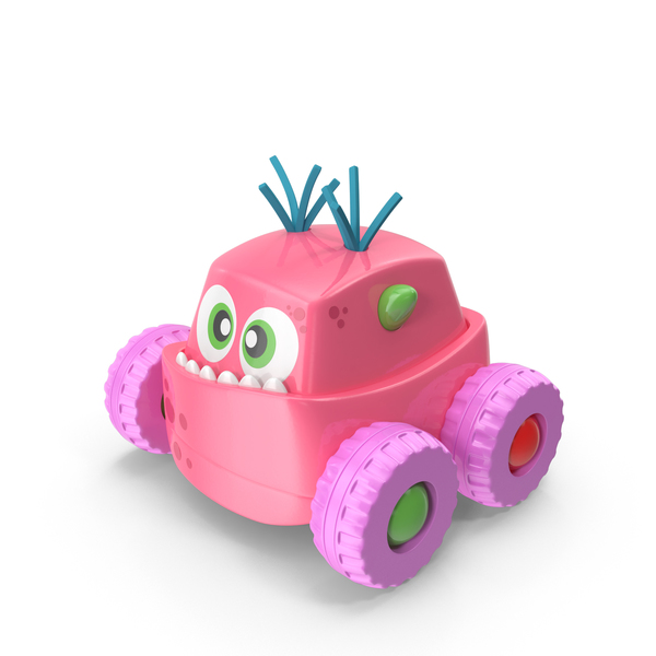 Pink Monster Car Toy PNG & PSD Images
