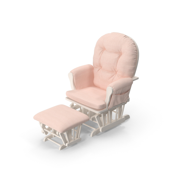 Pink Padded Rocking Chair PNG & PSD Images