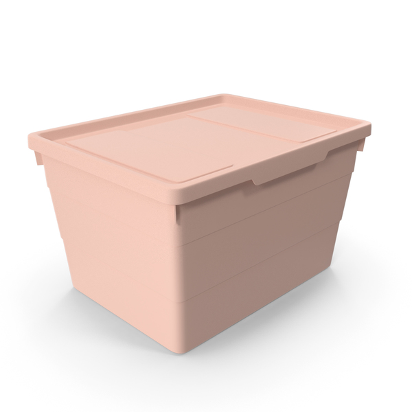 Pink Plastic Storage Box With Lid PNG & PSD Images