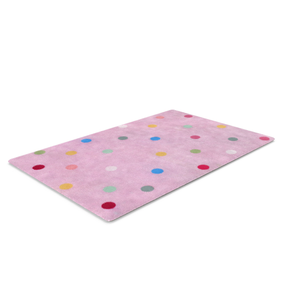 Pink Polkadot Rug PNG & PSD Images