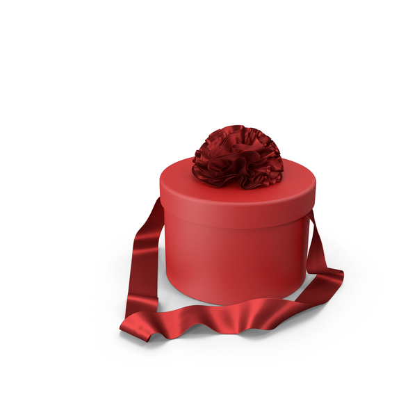 Pink Round Gift Box with Silk Ribbon PNG & PSD Images