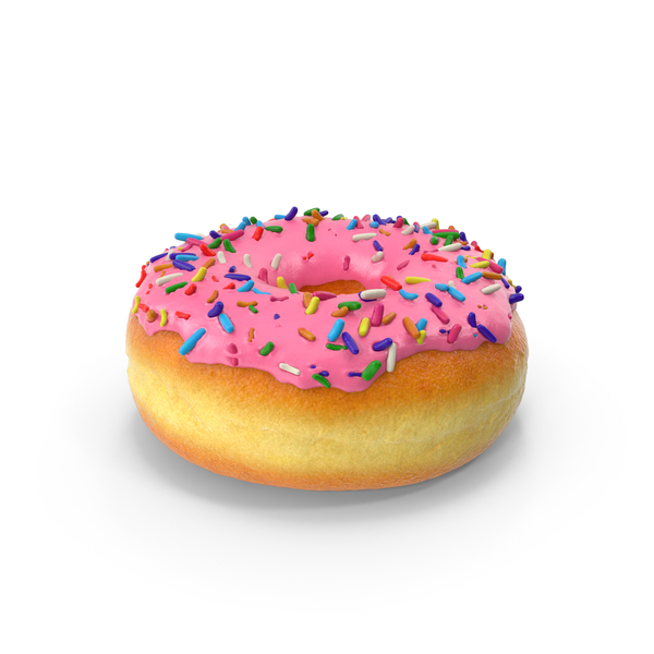 Glazed: Pink Sprinkled Donut PNG & PSD Images