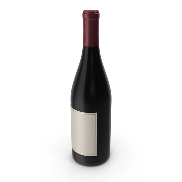 Wine: Pinot Noir Bottle PNG & PSD Images