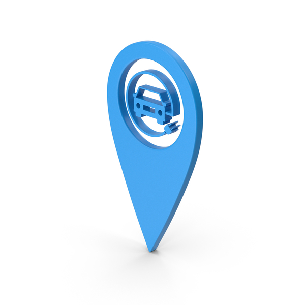 Logo: Pinpoint Electric Vehicle Charging Blue PNG & PSD Images