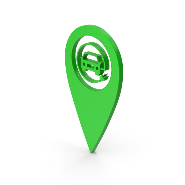 Logo: Pinpoint Electric Vehicle Charging Green PNG & PSD Images