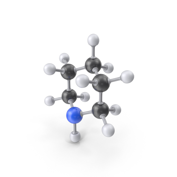 Piperidine Molecule PNG & PSD Images