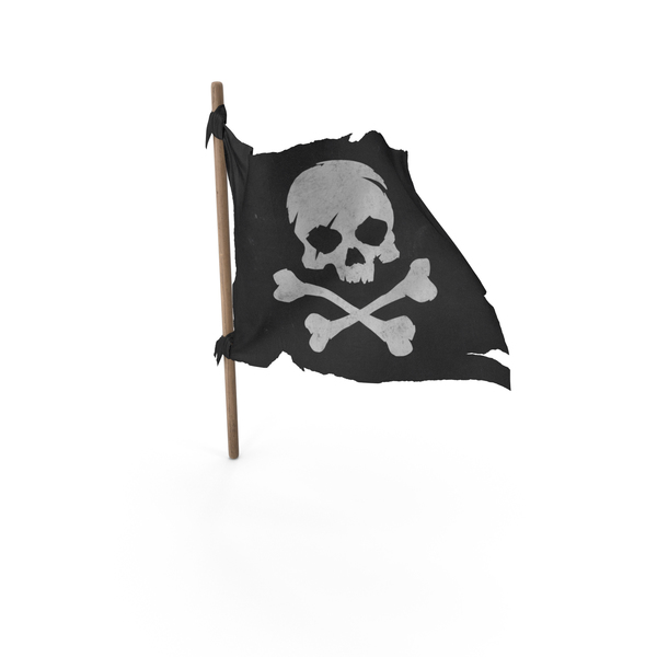 Pirate Skull and Bones Flag PNG & PSD Images