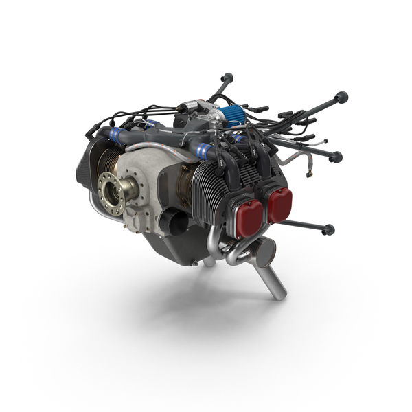 Piston Aircraft Engine PNG & PSD Images