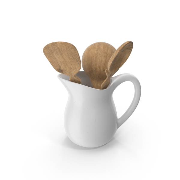 Pitcher with Spoons PNG & PSD Images