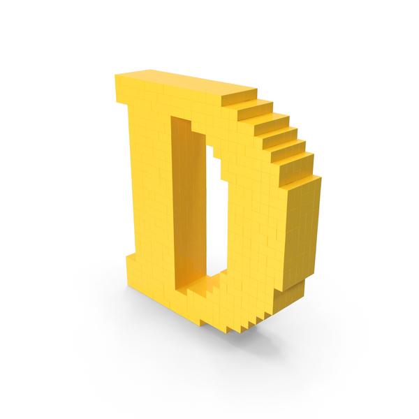 Pixel Art Letter D PNG & PSD Images