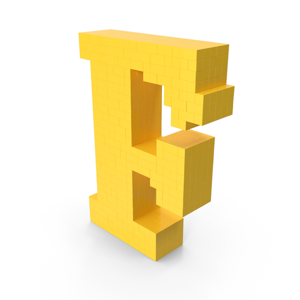 Pixel Art Letter F PNG & PSD Images