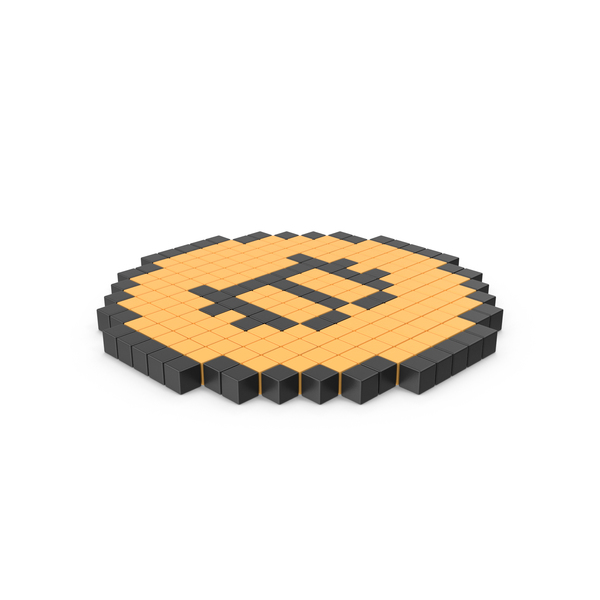 Pixelated Bitcoin Coin Icon PNG & PSD Images