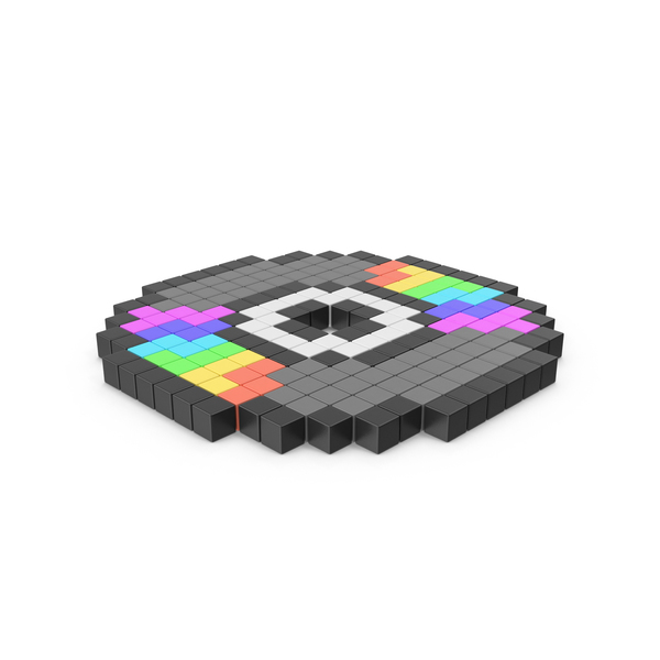Computer: Pixelated Compact Disc Icon PNG & PSD Images