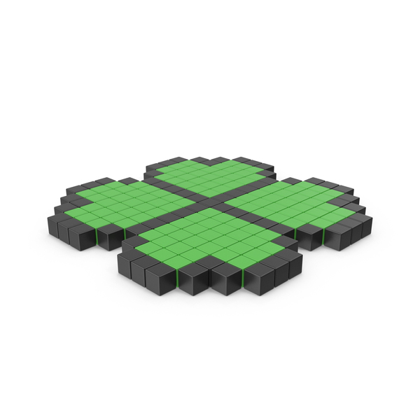 Pixelated Four Leaf Clover Icon PNG & PSD Images