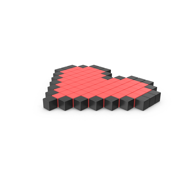 Pixelated Heart Icon PNG & PSD Images