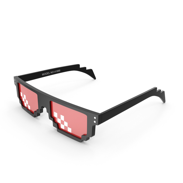 Pixelated Party Unisex Fun Sunglasses PNG & PSD Images