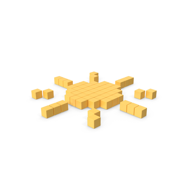 Pixelated Sun Icon PNG & PSD Images