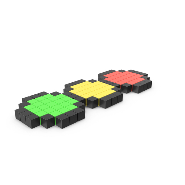 Pixelated Traffic Light Icon PNG & PSD Images