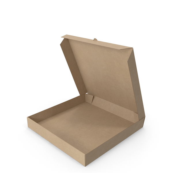 Pizza Box Kraft Paper 12 inch Open PNG & PSD Images