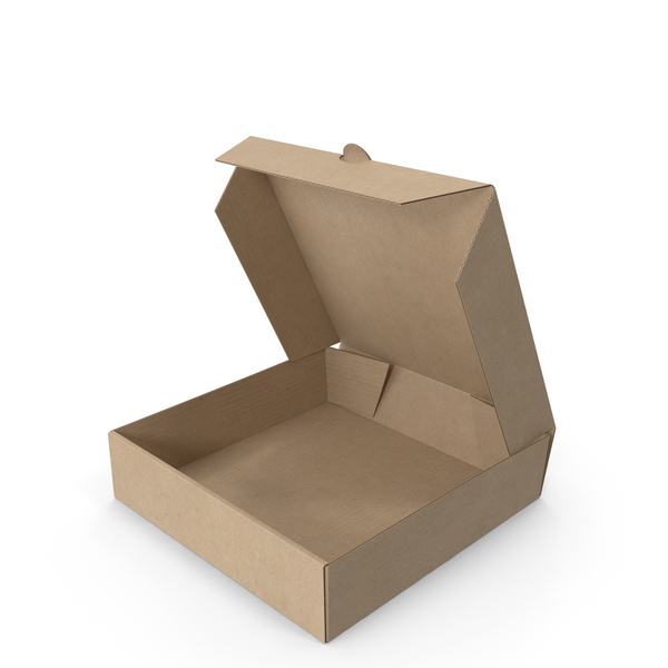 Pizza Box Kraft Paper 4 inch Open PNG & PSD Images