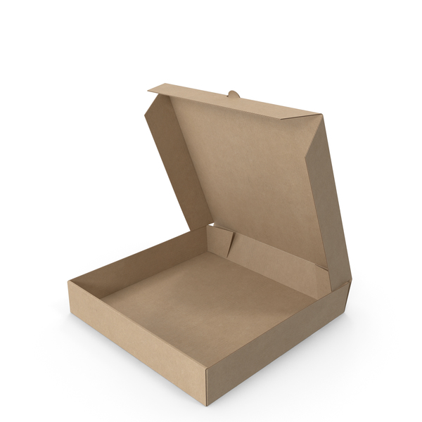 Pizza Box Kraft Paper 8 inch Open PNG & PSD Images