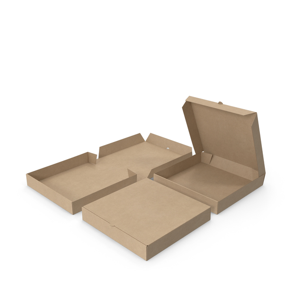 Pizza Boxes Kraft Paper 10 inch PNG & PSD Images