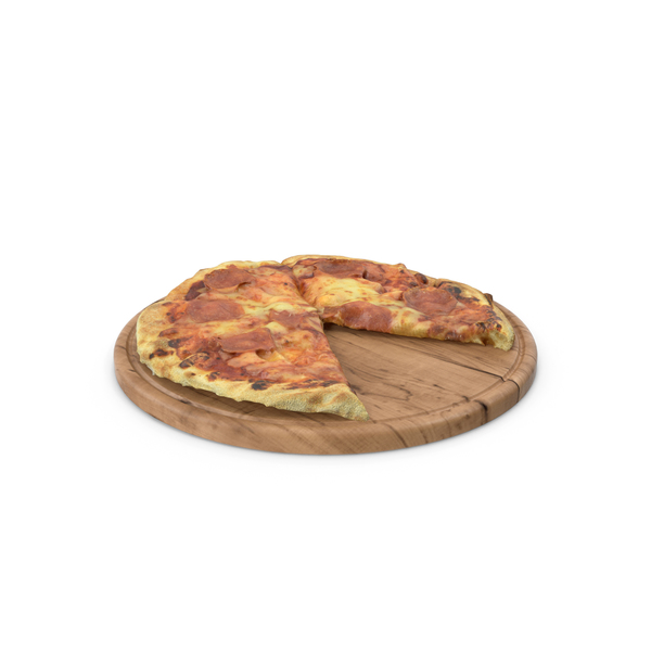 Pizza on Cutting Board PNG & PSD Images