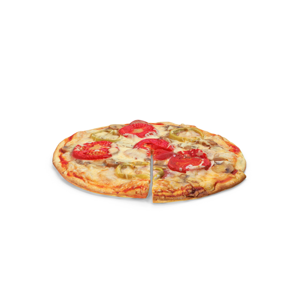 Pizza with Slice Cut PNG & PSD Images