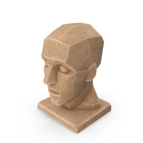 Bust: Plane Head Sculpture PNG & PSD Images
