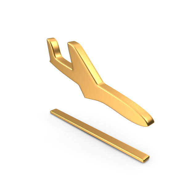 Plane Landing Symbol Gold PNG & PSD Images