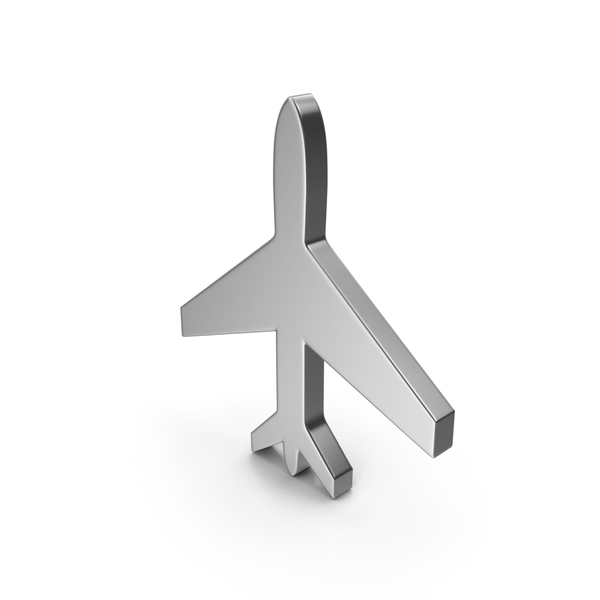 Airplane: Plane Symbol Silver PNG & PSD Images