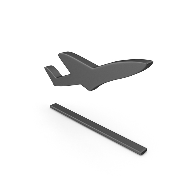 Plane Take Off Symbol Black PNG & PSD Images