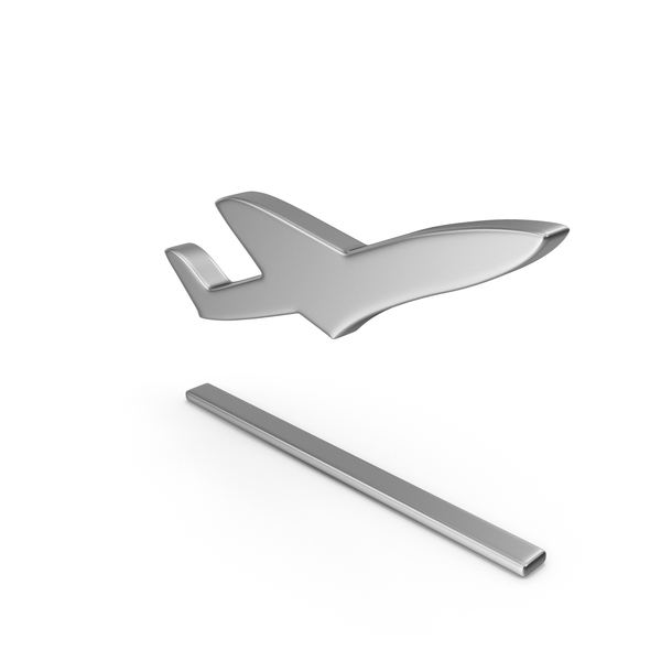Airplane: Plane Take Off Symbol Silver PNG & PSD Images
