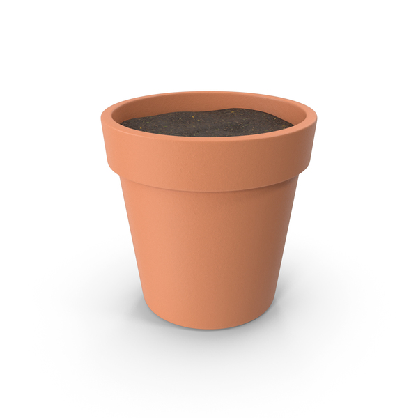 Plant Pot With Soil PNG & PSD Images