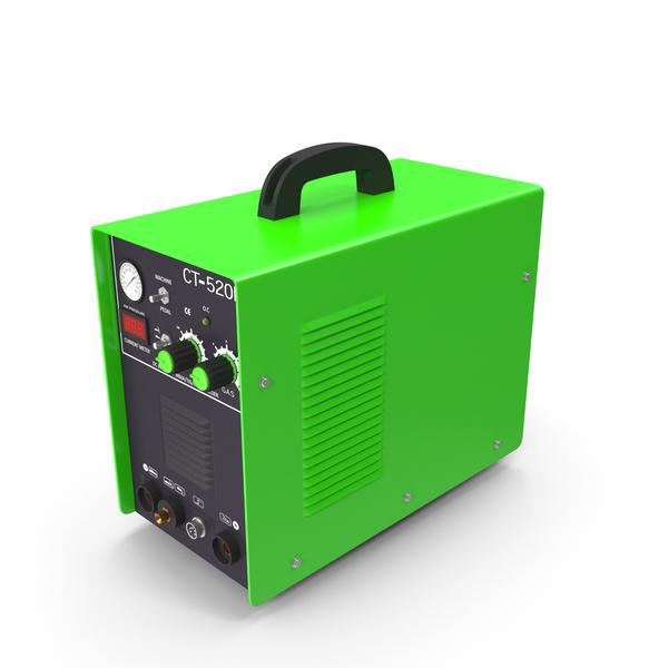 Arc Welder: Plasma Cutter Green PNG & PSD Images