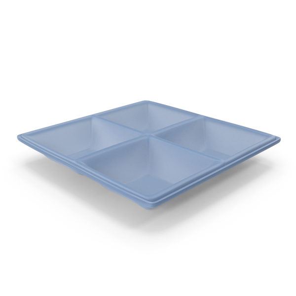Plastic 4 Compartment Bowl PNG & PSD Images