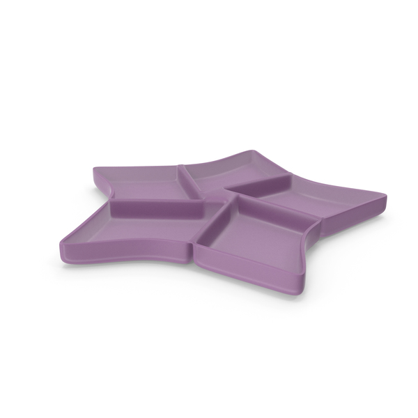 Plastic 5 Compartment Star Bowl PNG & PSD Images