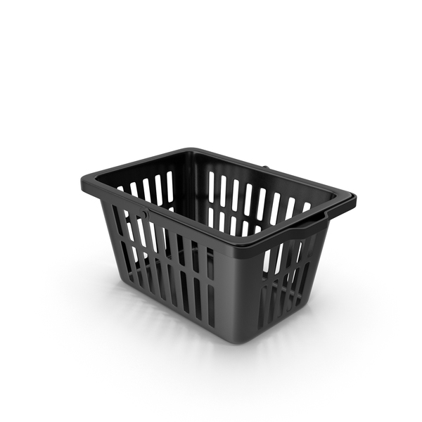 Shopping: Plastic Basket Black PNG & PSD Images