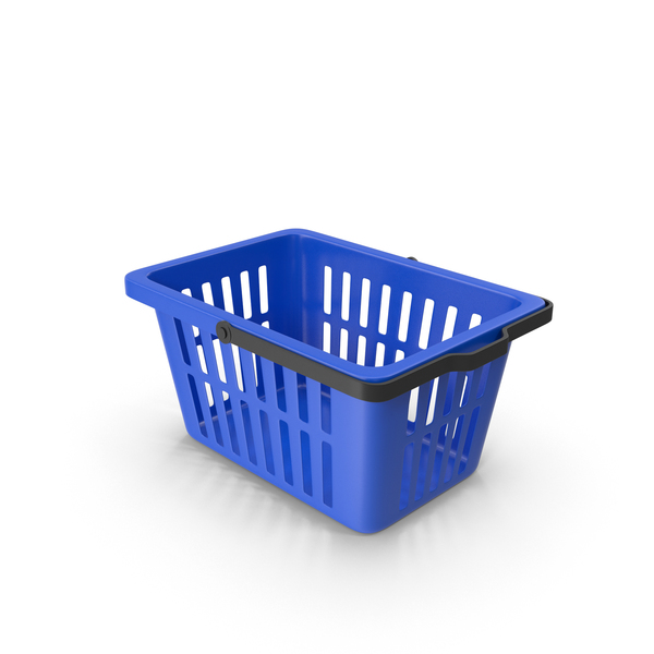 Shopping: Plastic Basket Blue PNG & PSD Images