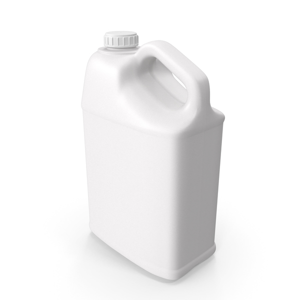 Plastic Bottle  25 Gallon With Ribbed Plastic Buttress Cap PNG & PSD Images