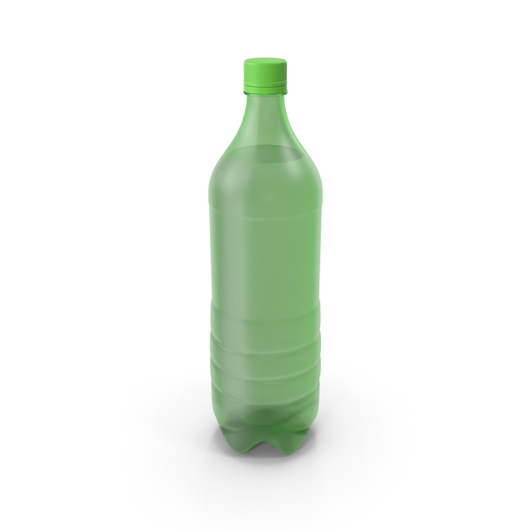 Plastic Bottle Green No Label PNG & PSD Images