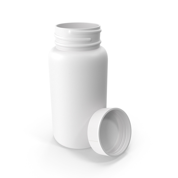 Medicine: Plastic Bottle Pharma Round 120ml Open PNG & PSD Images