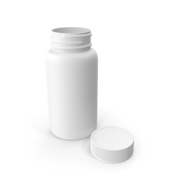 Plastic Bottle Pharma Round 120ml Open PNG & PSD Images