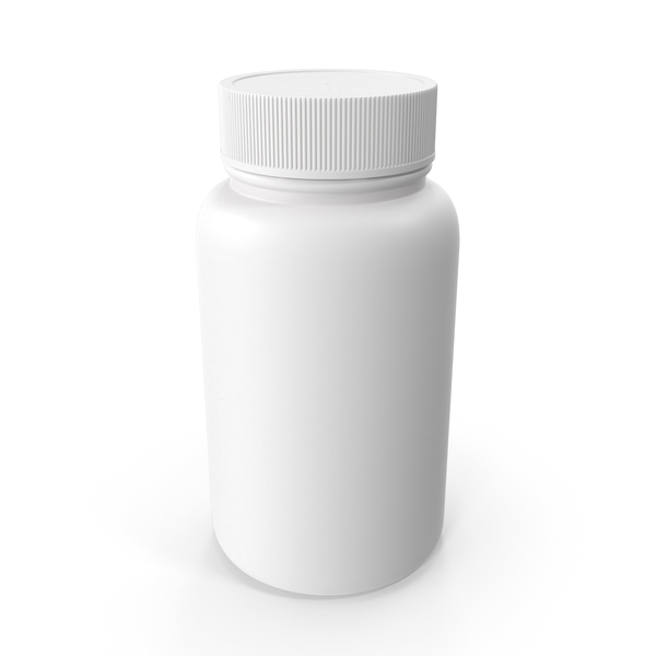 Medicine: Plastic Bottle Pharma Round 250ml Closed PNG & PSD Images