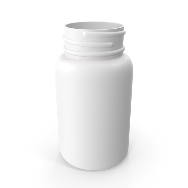 Plastic Bottle Pharma Round 60ml No Cap PNG & PSD Images